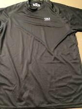 Men's-Small Short Sleeve Black Athletic Shirt Loose Fit By Guardian Wear New