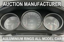 Renault Megane IV life Zen Polished Aluminium Dial Surrounds Speedo Rings 3pcs