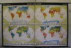 Schulwandkarte Beautiful Old Map Klimakarte Climate 97 5/8x64 3/16in Vintage~