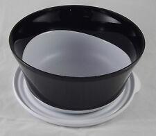 Tupperware C 122 Eleganzia 2,3 l Schüssel mit Deckel Schwarz / Weiß Neu OVP