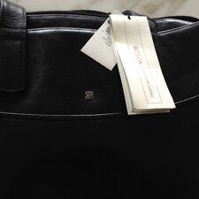 Italian Leather - Bosca Old Black Leather Tote Bag
