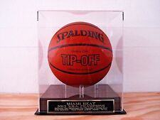 Basketball Display Case With A Miami Heat 2012 NBA Champions Engraved Nameplate