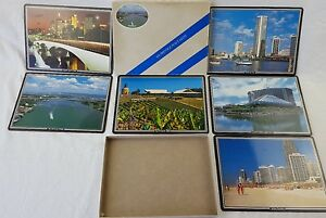 set of 6 prestige place mats brisbane australia gold coast captain cook bridge
