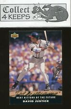 1992 Upper Deck Ted Williams Best Hitters of the Future T17 David Justice Braves