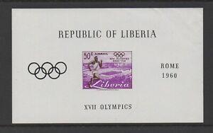 LIBERIA 1960 OLYMPIC GAMES, ROME M/SHEET *MINT*
