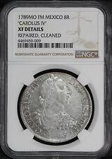 "1789 MO FM Mexico Silver 8 Reales ""Carolus IV"" NGC XF Details -170793"