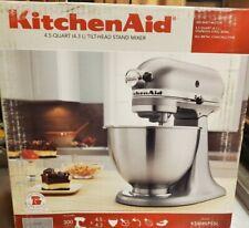 KitchenAid Classic Plus Series 4.5 Quart Tilt-Head Stand Mixer  Silver KSM85PSSL