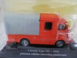 Voiture 1/43 classique IXO miniature Fourgon Type H plateau cabine Citroën Neuf