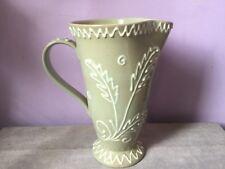 Vintage DENBY Stoneware GLYN COLLEDGE Tubelined CELADON GLAZE Display JUG 50's