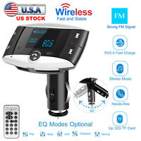Wireless FM Transmitter Modulator Car Kit MP3 Player SD USB Charger LED Remote