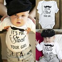 Newborn Toddler Baby Girls Boy Cotton Romper Jumpsuit Bodysuit Clothes Outfits