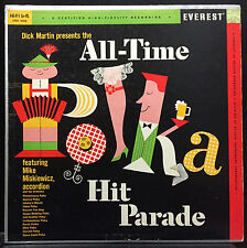 Mike Miskiewicz All-Time Polka Hits Parade LP VG+ 1959 Everest Belock Audiophile