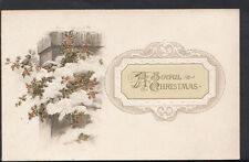 Greetings Postcard - A Joyful Christmas - Snow, Flowers and Birds  RS1824