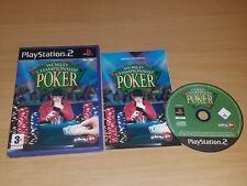 World Championship POKER ( PS2 PlayStation 2 ) Game PAL with Manual
