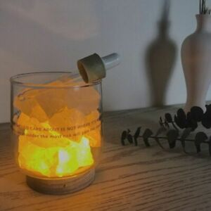 Table Night Light Fragrant Crystal Stone for Bedroom Living Room Decoration Gift