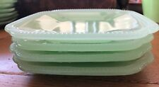 Hearth and Hand Magnolia Jadeite Appetizer Plates Set of 4 Green Glass BRAND NEW