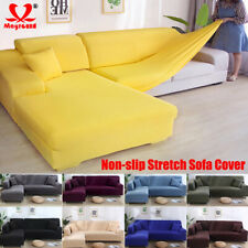 Easy fit Stretch Sofa Slipcovers Protector Elastic Soft Couch Cover 1/2/3/4 Seat