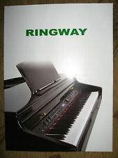 Ringway Digital Pianos; Electronic Organs, Keyboards, Drums catalog