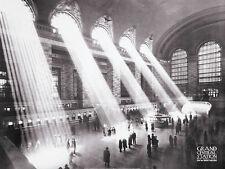 GRAND CENTRAL STATION 1934 HISTORIC PHOTOGRAPH ART PRINT BY KURT HULTON POSTER