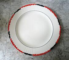 LOVELY LARGE VINTAGE RED, WHITE & BLACK ART DECO STYLE MYOTT, SON & CO PLATE