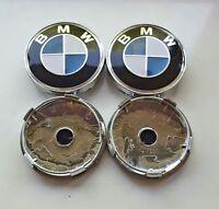 1 Satz BMW Nabenkappen Felgendeckel Nabendeckel 60mm Blau Radnabendeckel