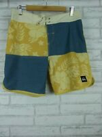 Quiksilver boardshorts size 30 blue yellow mens /teenagers