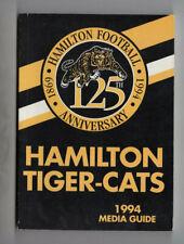 1994 Hamilton Tiger Cats Media Guide