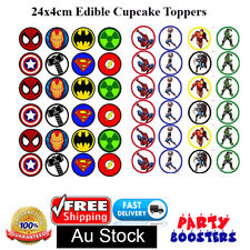 24 Superhero Marvel End Game Edible Cake Cupcake Topper Photo Decorations