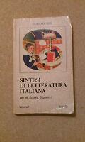 Claudio Redi - Sintesi Di Letteratura Italiana Vol.1 Bietti Scuole Superiori '70