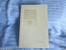 Estimators Book Tables Date Standards Specifications for Printers & Binders rare
