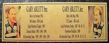 Gary Ablett Snr &  Jnr Gold  Plaque F/Post