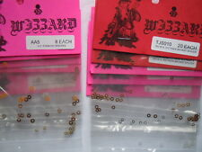 13 packages of Wizzard Most Popular Spacer Slot Car Axle and Armature Shims