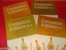 George F Handel Coronation Anthem 1 ,2, 3, & 4 Choral, organ / piano music books