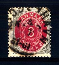 DENMARK - DANIMARCA - 1875 - Cifra e stemma in doppio ovale.