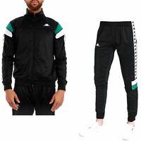 Kappa Mems Slim 222 Pants & Merez Slim 222 Top Jacket in Black, White & Green