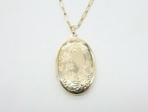 VINTAGE 9CT GOLD LOCKET AND CHAIN - FULLY HALLMARKED