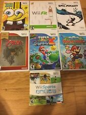 Huge Wii Lot Super Mario Galaxy 2 Paper Mario Spongebob Wii Sports Rare Zelda