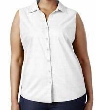 T-shirt, maglie e camicie da donna Blusa bianco con colletto