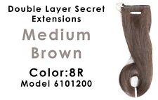 Daisy Fuentes Hair Double Layer Secret Extensions Medium Brown Color 8R 6101200