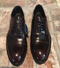 ZARA MENS BROWN  SHINY LACE UP CASUAL DRESS-UP SHOES Sz 8us 41eur NWTs