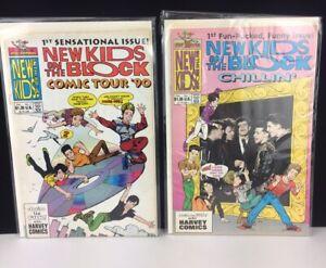 Lot B. 2pcs NKOTB New Kids On The Block Comics 1990 Tour Harvey Comics