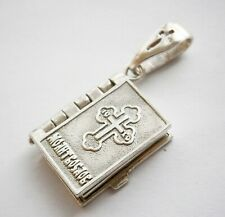 Driver prayer Pendant STERLING Silver 925 Cross Ukrainian JEWELRY Gift BOOK 6.2g