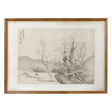 More details for chinese antique fine paintings 18th /19th century qing watercolour old master