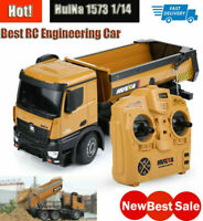 1/14 HUINA 1573 RC Dumping Engineering Truck 2.4G 10CH Remote Control Car Toy US