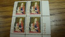 "U.S. Scott #1321 ""Christmas Madonna & Child"" Plate Block of 4 MNH 1968 5 cents"