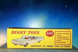 Vintage Dinky styled Chevrolet El Camino Pick-Up Truck Reproduction Box 449