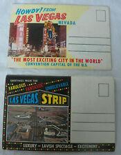 2 Vintage Las Vegas Postcard Travel Photo Albums Fremont St Strip Thunderbirds