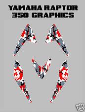 Yamaha Raptor 350 Red Camo Fender Graphics decals sticker plastics atv quad