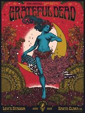 OFFICIAL GRATEFUL DEAD CONCERT POSTER FARE THEE WELL 2015, SANTA CLARA - BECKETT