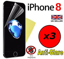 3x HQ MATTE ANTI GLARE SCREEN PROTECTOR COVER GUARD FILM FOR APPLE IPHONE 8 2017